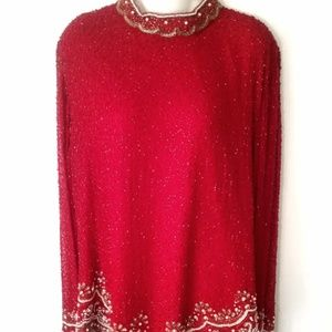 VTG THE FORMAL COLLECTION Beaded Top Sz14
